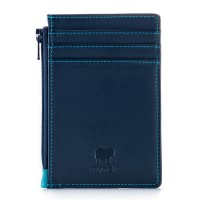 RFID Credit Card Holder with Coin Purse Navy