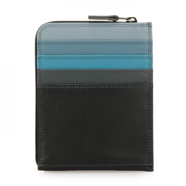 Zip Around CC Holder/Wallet Black Smokey Grey