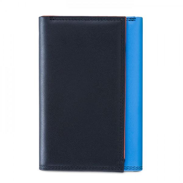 RFID Men's Tri-fold Wallet with Zip Nappa Burano