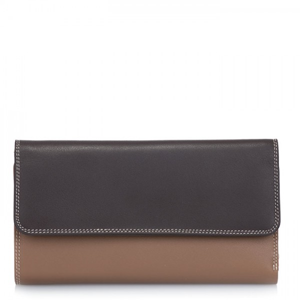 Tri-fold Zip Wallet Mocha
