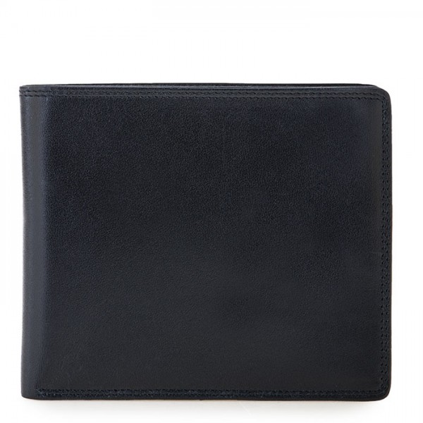 RFID Large Men's Wallet with Britelite Black-Blue
