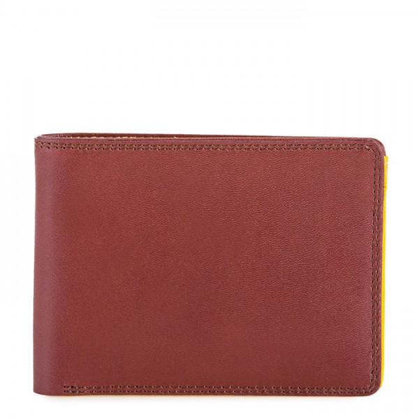 RFID Men's Jeans Wallet Brown-Yellow
