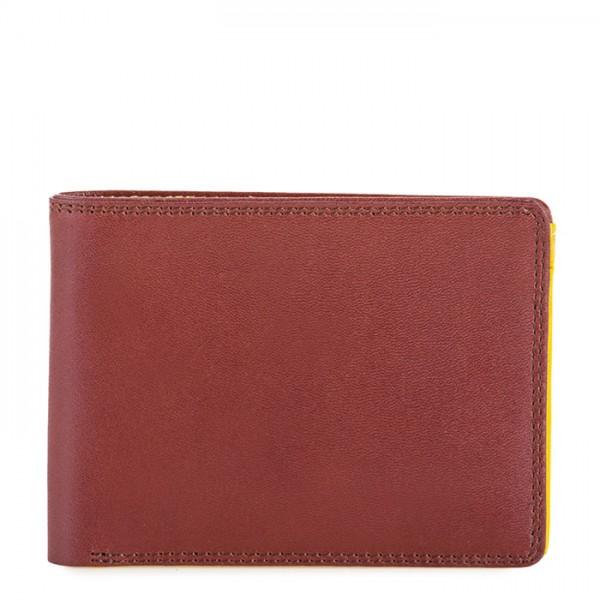 Portefeuille Jeans RFID pour homme Brun-jaune