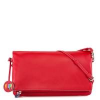 Bruges Foldover Clutch Bag Red
