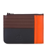 Slim Credit Card Holder with Coin Purse Cacao