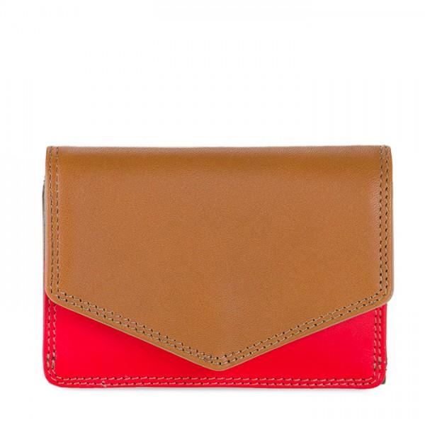 Tri-fold Leather Wallet Caramel