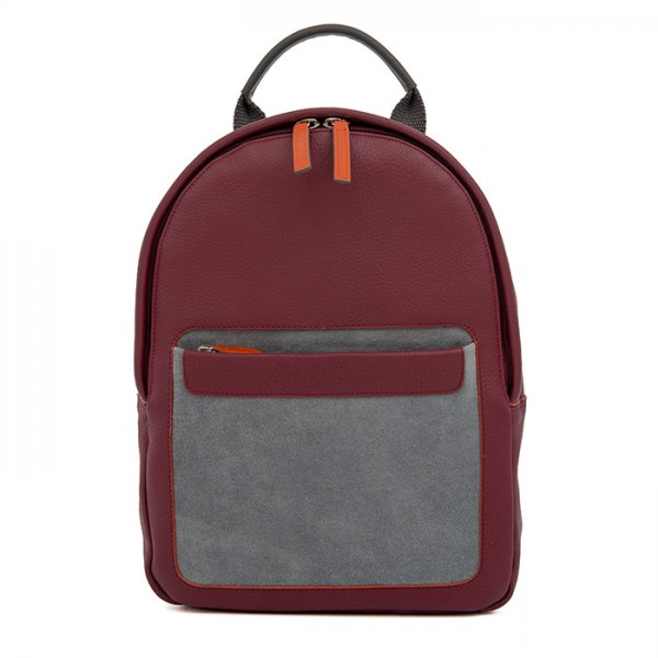 Havana Small Leather Backpack Chianti