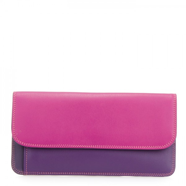 Simple Flapover Purse/Wallet Sangria Multi