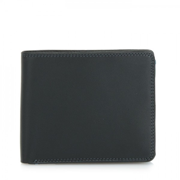 Large Men's Wallet w/Britelite Black Smokey Grey