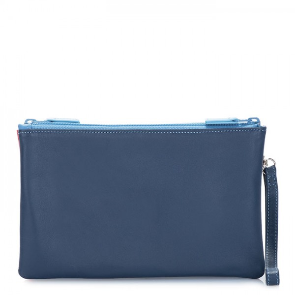 Small Double Zip Pouch Royal
