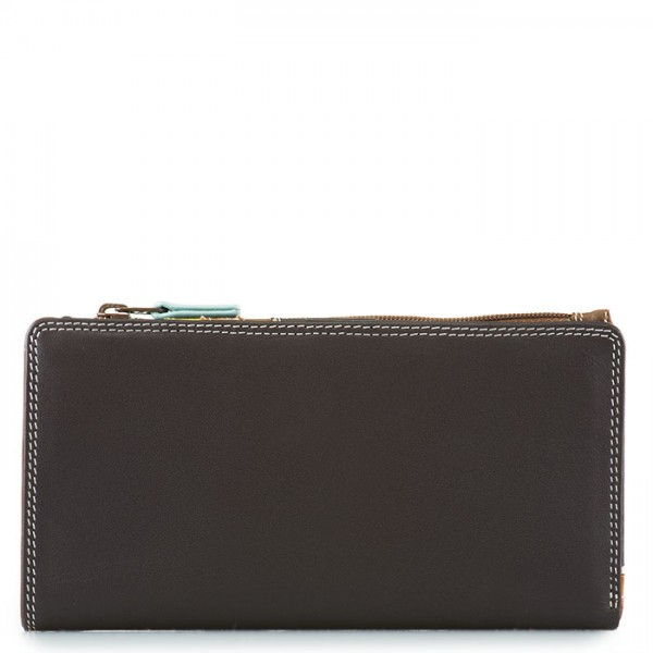 12 CC Zip Wallet Mocha