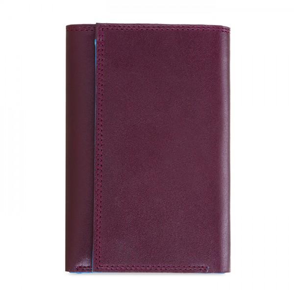 Men's Tri-fold Wallet with Zip Plum-Caribbean