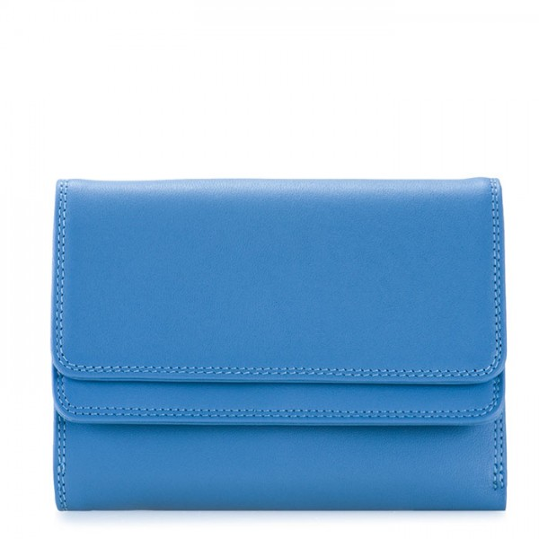 RFID Double Flap Purse/Wallet River Blue