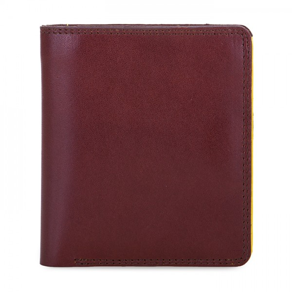 Men's Bi-fold with Pull Out Tab Brown-Yellow