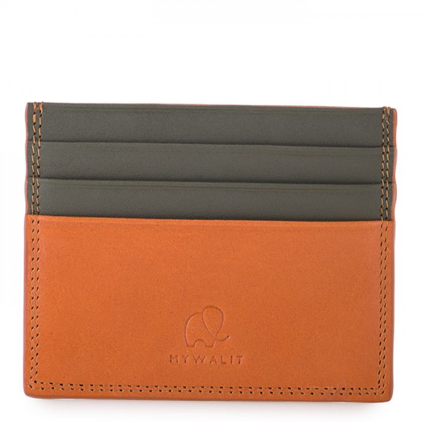 Porte-cartes double face RFID new style Fauve-Olive