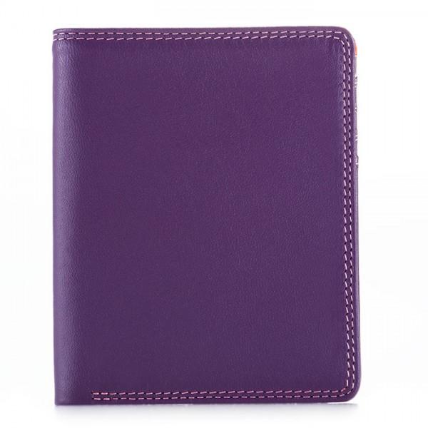 Zweifach faltbare Geldbörse mit RFID-Schutz Violett