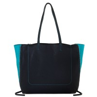 Icon Shopper Black-Turq