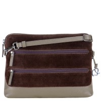 Pompei Tri-Zip Cross Body Mink