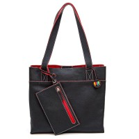 Vancouver Medium Leather Tote Black