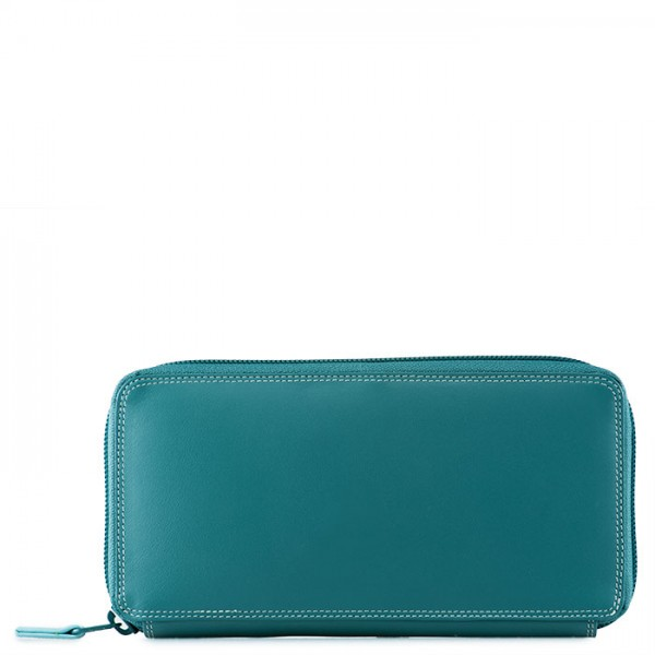 Large Zip Around Purse Mint