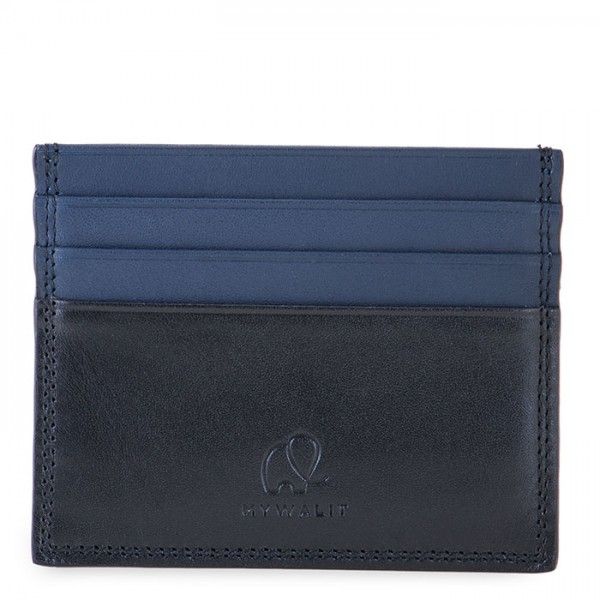 RFID Double Sided CC Holder Black-Blue