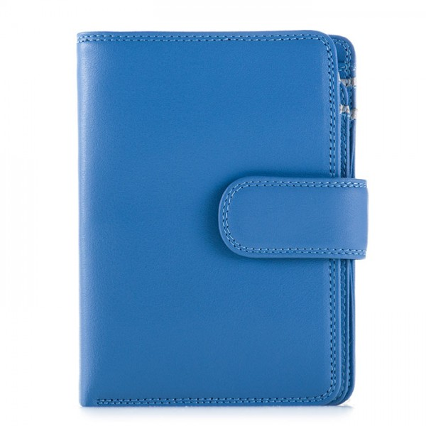 RFID Medium Snap Wallet River Blue