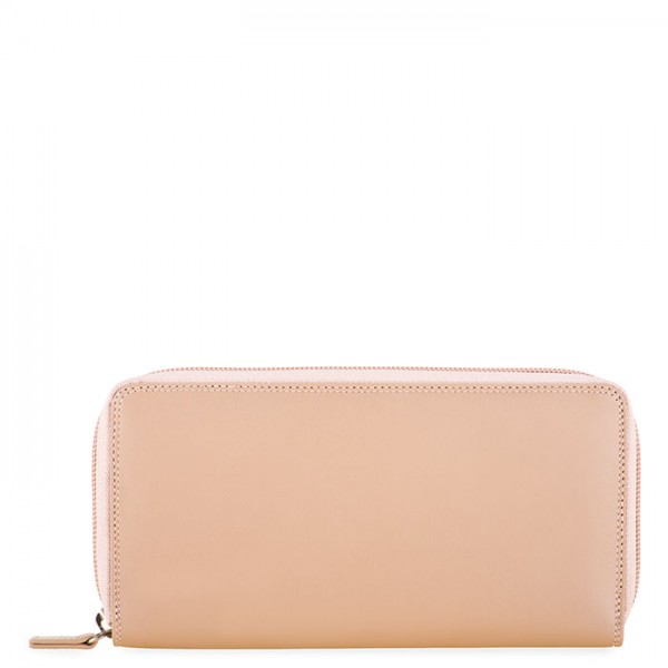 Zip Around Purse Nude Rose-Gold