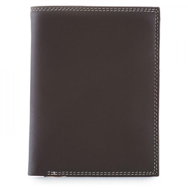 Men's Wallet w/Zip Section Mocha