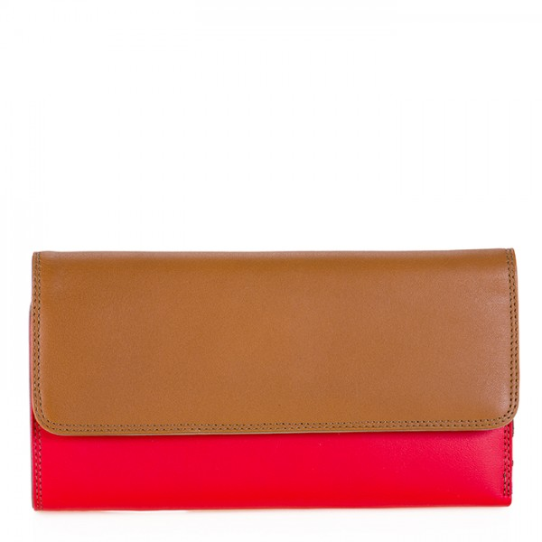 Tri-fold Zip Wallet Caramel