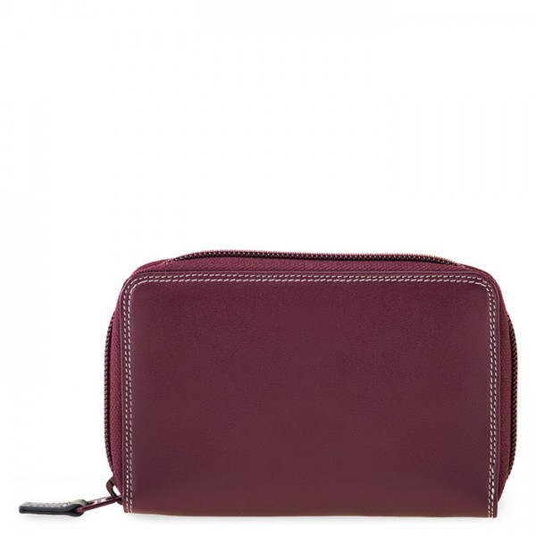 Medium Leather Zip Around Wallet Chianti