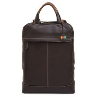 Slim Leather Backpack Mocha