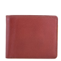 RFID Standard Men's Wallet with Coin Pocket Brown-Yellow