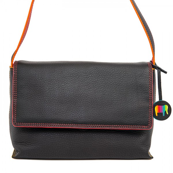 Ancona Umschlagtasche aus Leder Black Pace