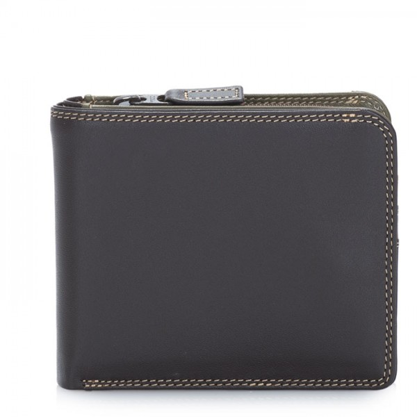 Wallet w/Middle Zip Section Safari Multi
