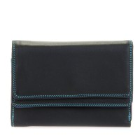Double Flap Purse/Wallet Black Pace