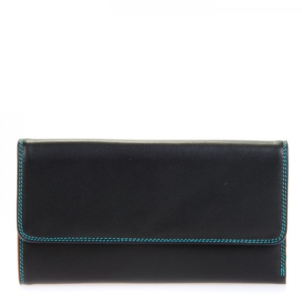 Tri-fold Zip Wallet Black Pace