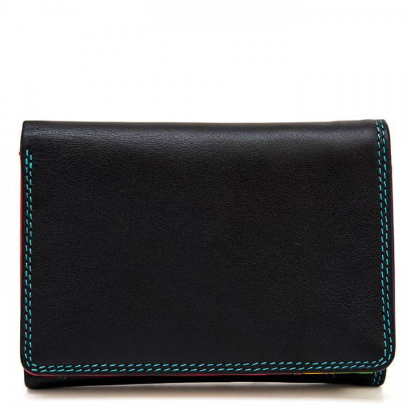 Men's Tri-fold Leather Wallet Black Pace
