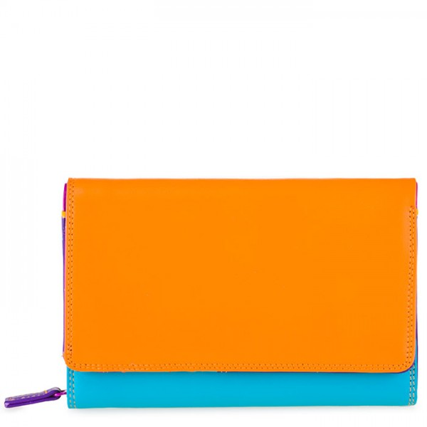 Medium Leather Flapover Wallet Copacabana