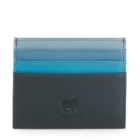 Double Sided Credit Card Holder Black Smokey Grey