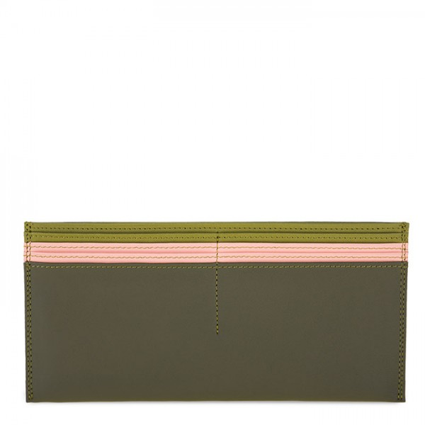 Large Leather C/C Bill Holder Olive