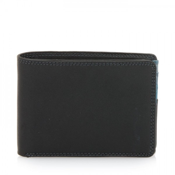 Jeans Wallet with Inner Leaf Black Smokey Grey