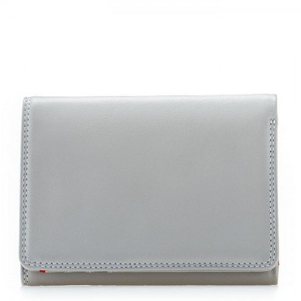 RFID Small Tri-fold Wallet Grey