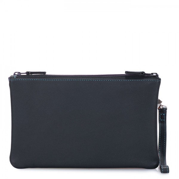 Small Double Zip Pouch Black Pace