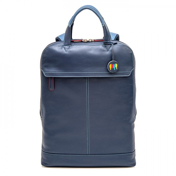 Slim Leather Backpack Royal