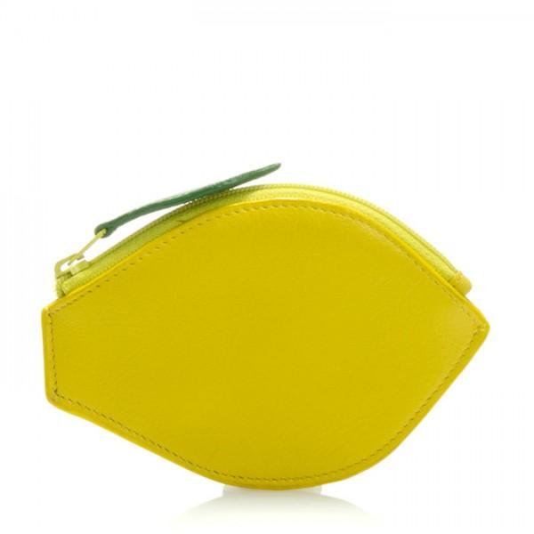 Monedero de fruta con forma de limón Amarillo