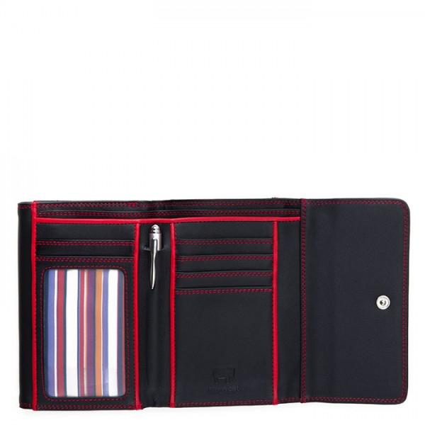 RFID Double Flap Purse/Wallet Black