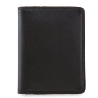 Credit Card Holder w/Plastic Inserts Black