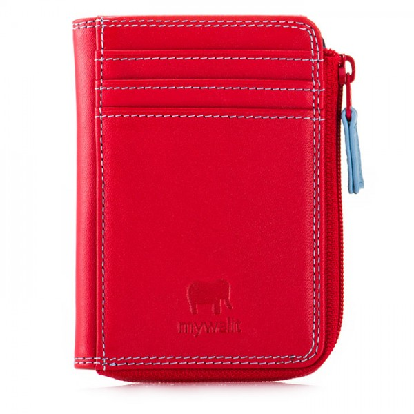 16056ae4e6cf RFID Small Zip Purse Red