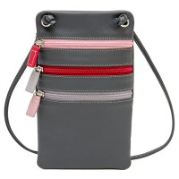 Leather Travel Neck Purse Storm