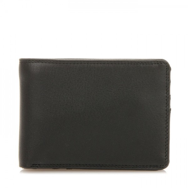 Jeans Wallet with Inner Leaf Black
